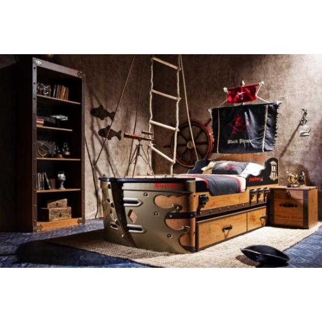Кровать корабль Cilek Black Pirate 190 на 90 см