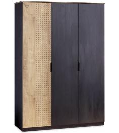 Трехдверный шкаф Cilek Black Line