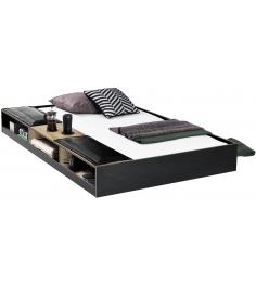 Выдвижное спальное место с полочками Cilek Black