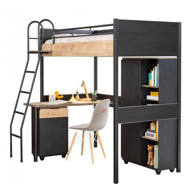 Кровать чердак Cilek Compact Black 190 на 90 см