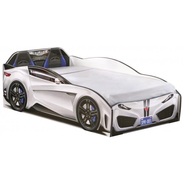 Кровать машина Cilek spyder car white