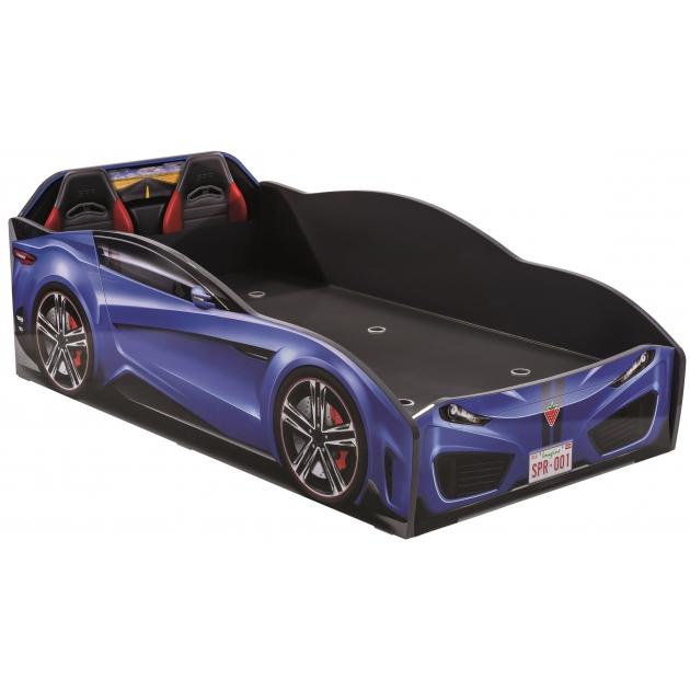 Кровать машина Cilek spyder car dark blue