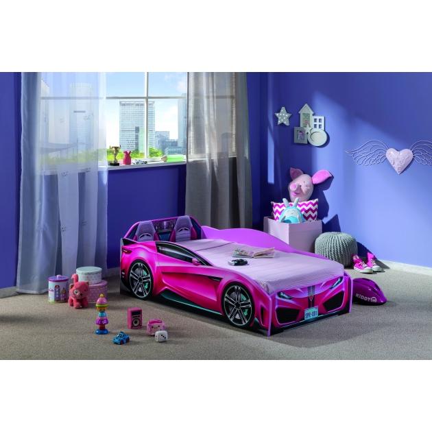 Кровать машина Cilek spyder car pink