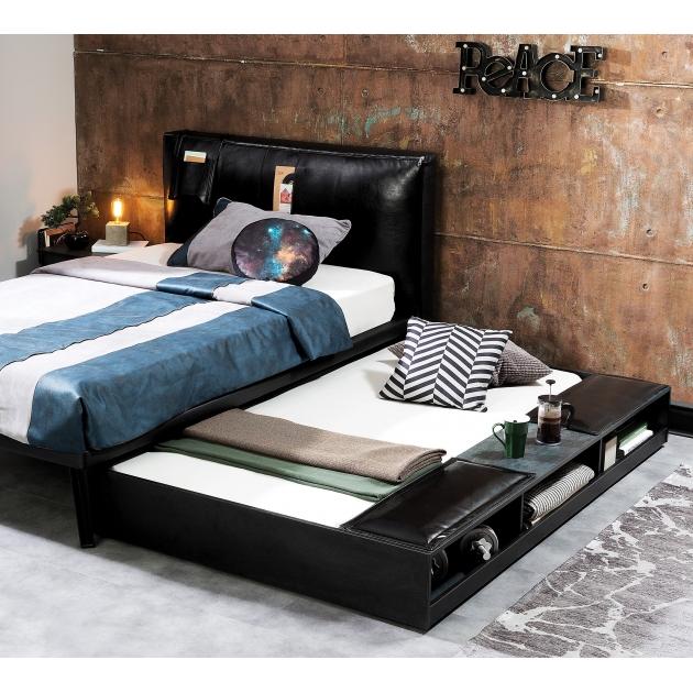 Выдвижное спальное место Cilek Dark Metal с полочками 90 на 190 см