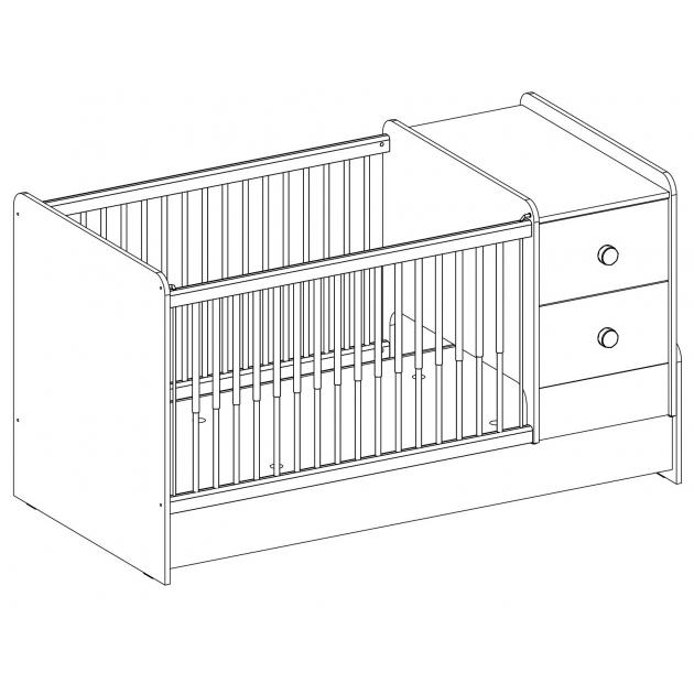 Кроватка трансформер Cilek Mocha без коробки
