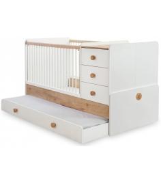 Кроватка трансформер Cilek Natura Baby с выдвижным спальным местом...