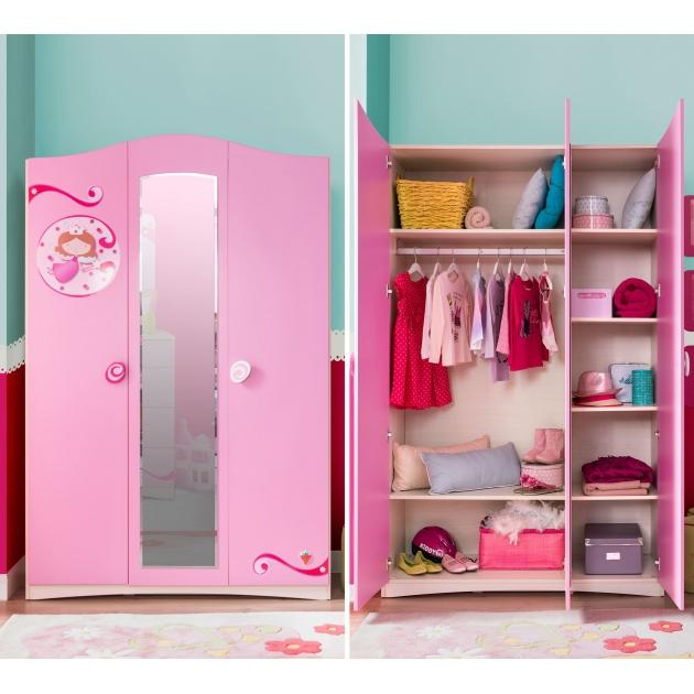 Трехстворчатый шкаф Cilek SL Princess
