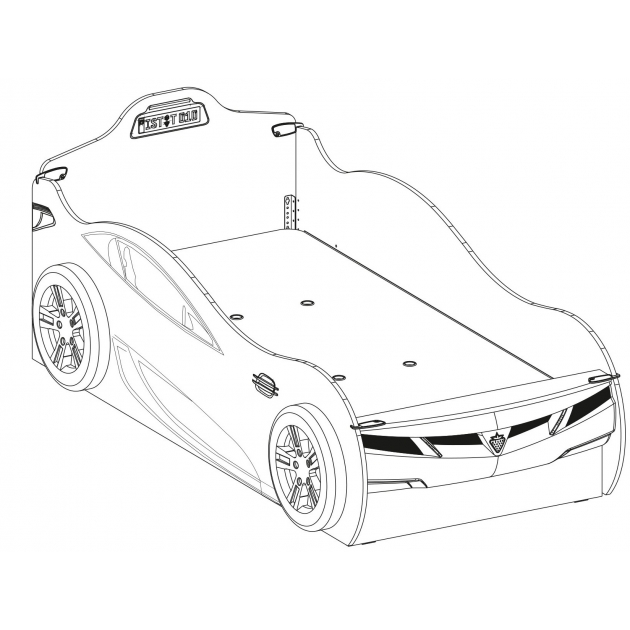 Кровать машина Cilek Racecup c выдвижной кроватью 190 на 90 см