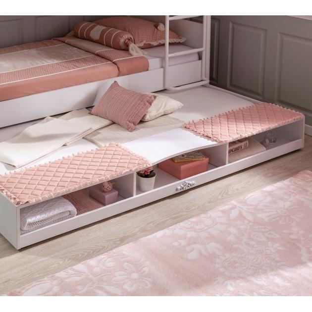 Выдвижное спальное место полками Cilek Romantic