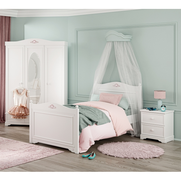Кровать Cilek Rustic White 200 на 120