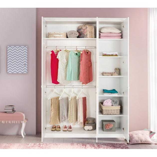 Трехдверный шкаф Cilek Selena Pink