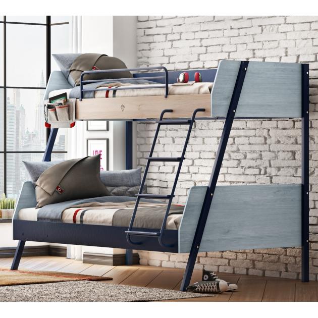 Двухъярусная кровать Cilek Trio широкая