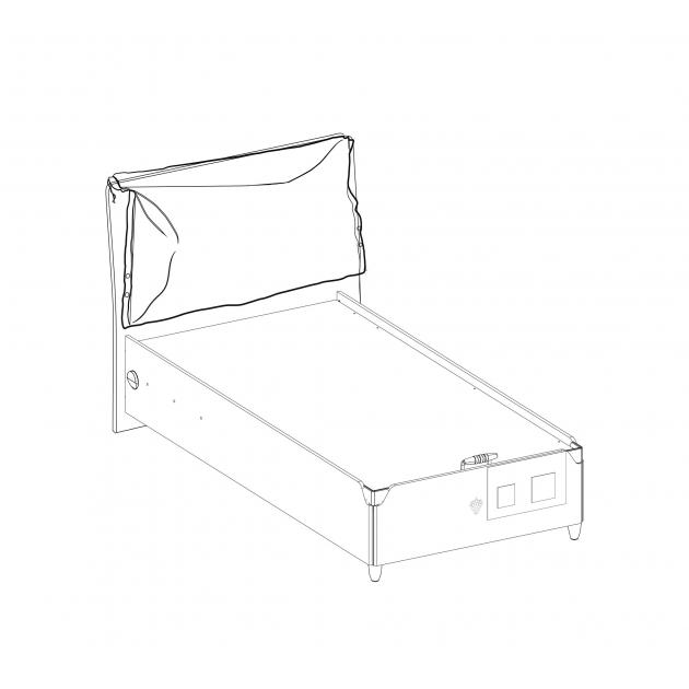 Кровать с подъемным механизмом Cilek Trio 200 на 100 см