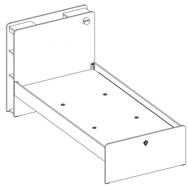Кровать Cilek White 200 на 120 см
