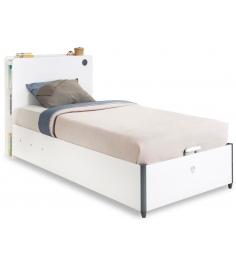 Кровать с подъемным механизмом Cilek White