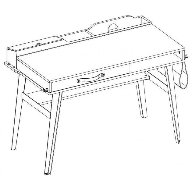 Стол письменный малый Cilek Wood Metal