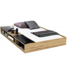 Выдвижная кровать Cilek Wood Metal с полками 90х190